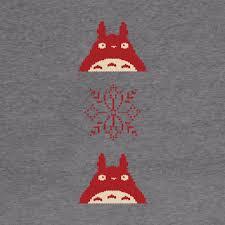 Totoro Christmas Sweater - Totoro - Hoodie | TeePublic