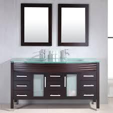 cambridge 63 inch glass top double sink vanity
