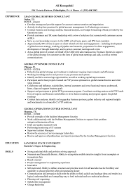 Global Consultant Resume Samples Velvet Jobs