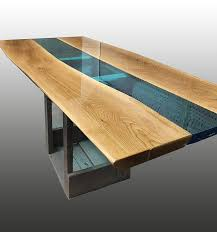 Esstisch Aus Holz Und Epoxidharz Ungiftig Mit Modernem Design