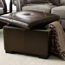brown leather ottoman coffee table with storage spotthevuln com tufted double bed dark