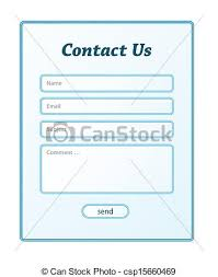 simple contact form the simple contact form in blue color clip art vector search