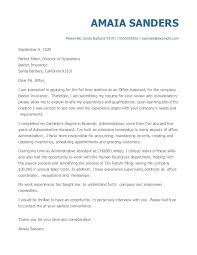 Here are a couple of sample application letters. The Best Cover Letter Examples For 2021 Myperfectresume