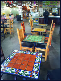 mosaic outdoor dining table luxury mexican mosaic tile google search hacienda chic