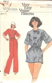 Women's Romper Pattern Classy 48s Vogue 48 Misses Jumpsuit Romper Pattern Elastized Etsy