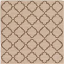 unique loom outdoor beige 6 x 6 square indoor outdoor rug