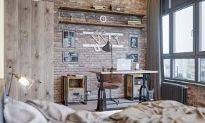 Industrial home office Rustic Industrial Interior Design Ideas 33 Inspiring Industrial Style Home Offices That Sport Beautiful