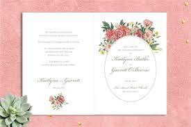 Wedding Ceremony Program Cover Watercolour Garden Ceremony Booklet Printable Ceremony Cover