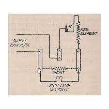 information about the electric iron invention how an electric pilot lamp connection diagram