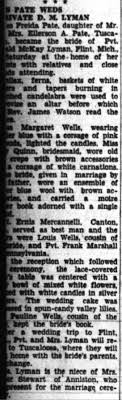 Freida Pate marriage to Donald McKay Lyman - Newspapers.com