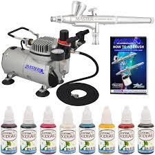 com complete airbrush face and art paint airbrushing system includes the m