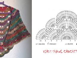 Virus Shawl Crochet Pattern Delectable Free Pattern For Crochet Virus Shawl Dancox For Pattern For Shawl