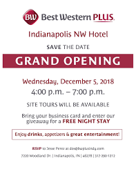 Grand Opening Best Western Plus Indianapolis NW hotel   Indy Chamber
