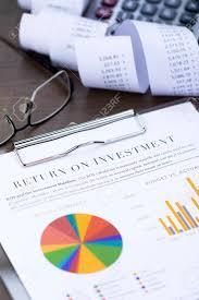 Rainbow Pie Chart Return On Investment Analysis Document With Rainbow Pie Chart