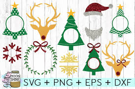 The best selection of royalty free christmas frame vector art, graphics and stock illustrations. Free Christmas Monogram Frame Bundle Svg Png Dxf Eps Cutting Files Crafter File