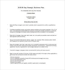 Basic Business Plan Template 20 30 Day Business Plan Template Simple Template Design