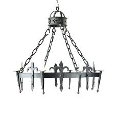 fleur de lis chandelier shades octagon vintage iron with form lamp shas home goods ashburn