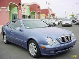 2002 Quartz Blue Metallic Mercedes-Benz CLK 320 Coupe #21775658 ...