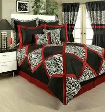 red black white comforter sets lush red white black animal print pieced comforter set queen king cal king red and white comforter set queen