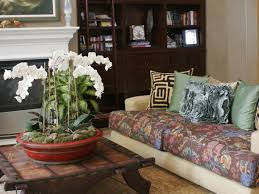 Moroccan Inspired Living Room With Floral Sofa (Image 16 of 25)