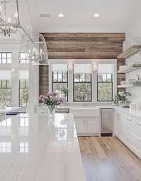Image Gorgeous Fixer 13 Best Modern Farmhouse Kitchen Decor Ideas Put Pass Through Window Here Like The Natural Shiplap On The Wall Pinterest Pin By On Home Remodel Home Decor Kitchen Modern Farmhouse