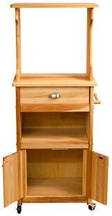 Microwave Furniture Cabinet Catskill Microwave Cart Open Shelf Closed Cabinet
