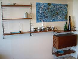 Vintage Wall Unit: 50's Swedish String Wall Shelf. Mid century modern modular  wall shelving