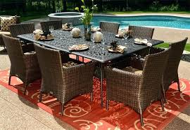 patio table seats 8 round outdoor dining table for 8 inspiring wicker outdoor dining set dining patio table seats 8