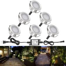 Dekor Outdoor Led Stair Light Kit Low Voltage Led Deck Lights Kit Fvtled Waterproof 1 22 Outdoor Garden Patio Step Stairs Landscape Decor Recessed Lamp Led In Ground Lighting