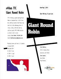 1st annual e4hats table tennis club round robin tournament