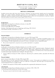Medical Resume Template Medical Doctor Resume Example Sample Template