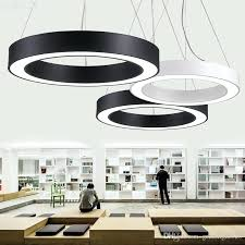 ring pendant light led round ceiling chandelier milky acrylic lamps with single ac large ring pendant light modern