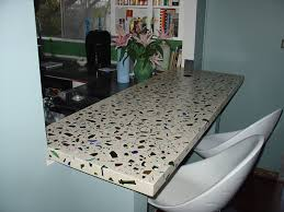image of recycled glass concrete countertops