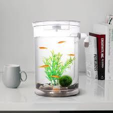 office desk aquarium. self cleaning plastic fish tank desktop aquarium betta fishbowl for office home decor lazada malaysia desk