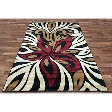 red and black area rugs modern black area rug flower red ivory beige black color red and black area rugs