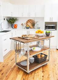 kitchen island cart industrial. Furniture , Kitchen Island Cart Designs : Industrial With Wheels And Hookd I
