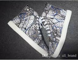 2016 <b>High Quality Men</b> Sneakers Gray Snakeskin <b>High Top</b> Casual ...