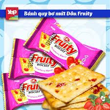 Bánh quy bơ mứt Dâu Fruity Thái Lan giá sỉ - Bán sỉ bánh kẹo Thái Lan