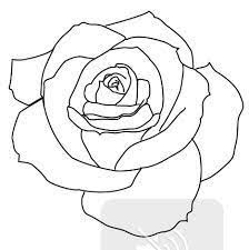Small Picture Hand Drawn Rose Outlines 10 Colors Printable PDFs and Vector