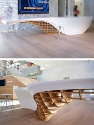 futuristic office ditches cubicles super. Futuristic Office Ditches Cubicles For A Super Desk That Seats 125 Employees - TechEBlog | Architecture Pinterest Barbarian Group, And Desks I