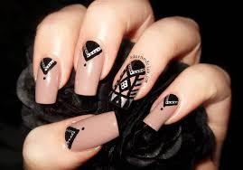 Tribal Print Nail Designs 55 Black And Beige Nail Art Design Idea