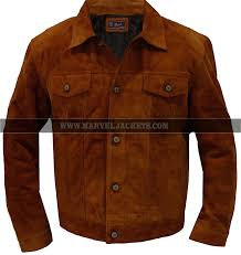 mens x men wolverine logan 2017 brown real suede leather jacket shirt style coat