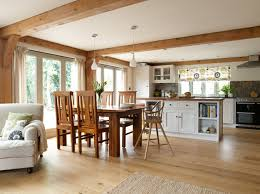 Open Kitchen Dining Living Room Border Oak Open Plan Kitchen Dining Living Room In A New Build