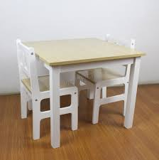sentinel foxhunter kids table with 2 chairs set children toy playroom wood kts01 natural