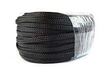 braided wire sleeve 1 4 100ft braided expandable sleeving flex harness loom wire cover black