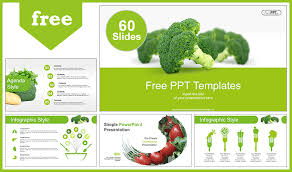 Free Food Powerpoint Templates Free Green Veggies Food Powerpoint Template Designhooks