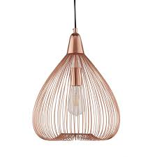 searchlight pumpkin 1 light wire cage pendant copper 3591cu 02 1