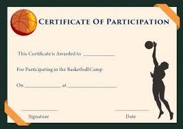 Participation Certificate Template Participation Certificates