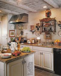 rustic white country kitchens. Delightful Hanging Ceiling Kitchen Appliance Storage Over Rustic Wooden Island As Well White Country Kitchens