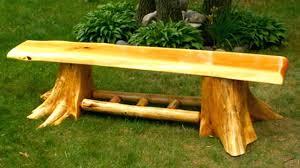 Cedar Log Bench Ideas Half Diy. Cedar Log Bench Ideas Red Benches Cedr  Hedbord Stnd Tree.
